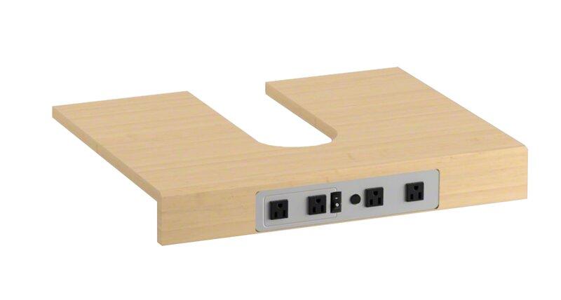 Kohler Adjustable Shelf With Electrical Outlets For Kohler 60 Tailored Vanities With Double Basin Wayfair