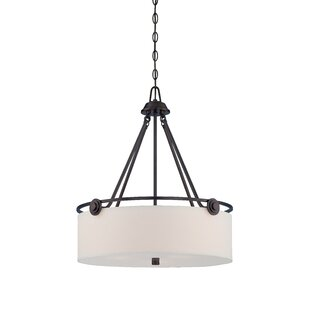 Read Reviews Westhope 3-Light Drum Chandelier By Laurel Foundry Modern Farmhouse