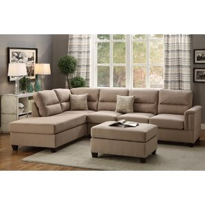 Bobkona Toffy Reversible Sectional  sc 1 st  Wayfair : cream sectional couch - Sectionals, Sofas & Couches