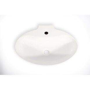 Compare Malaga Ceramic Oval Vessel Bathroom Sink By Hispania Home
