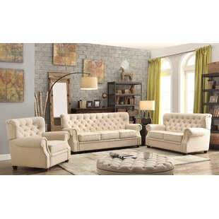 Lark Manor Asaro 3 Piece Living Room Set