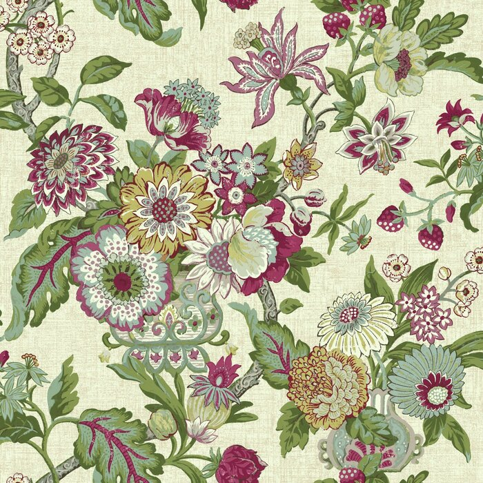 Waverly Global Chic 33 X 20 5 Floral And Botanical Wallpaper Roll