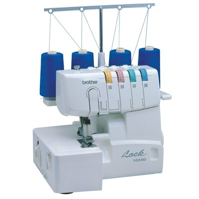 Brother Sewing 3 or 4 Thread Serger with Easy Lay In Brother Sewing