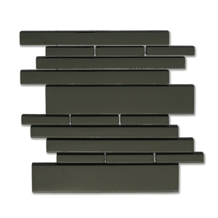 Piano Random Sized Glass Mosaic Tile in Melody