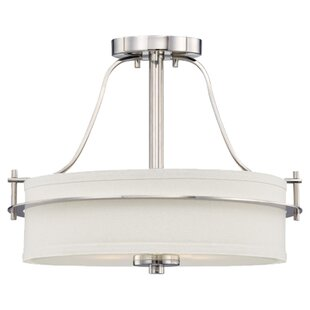 Daryl 2-Light Semi Flush Mount by Foundry Select