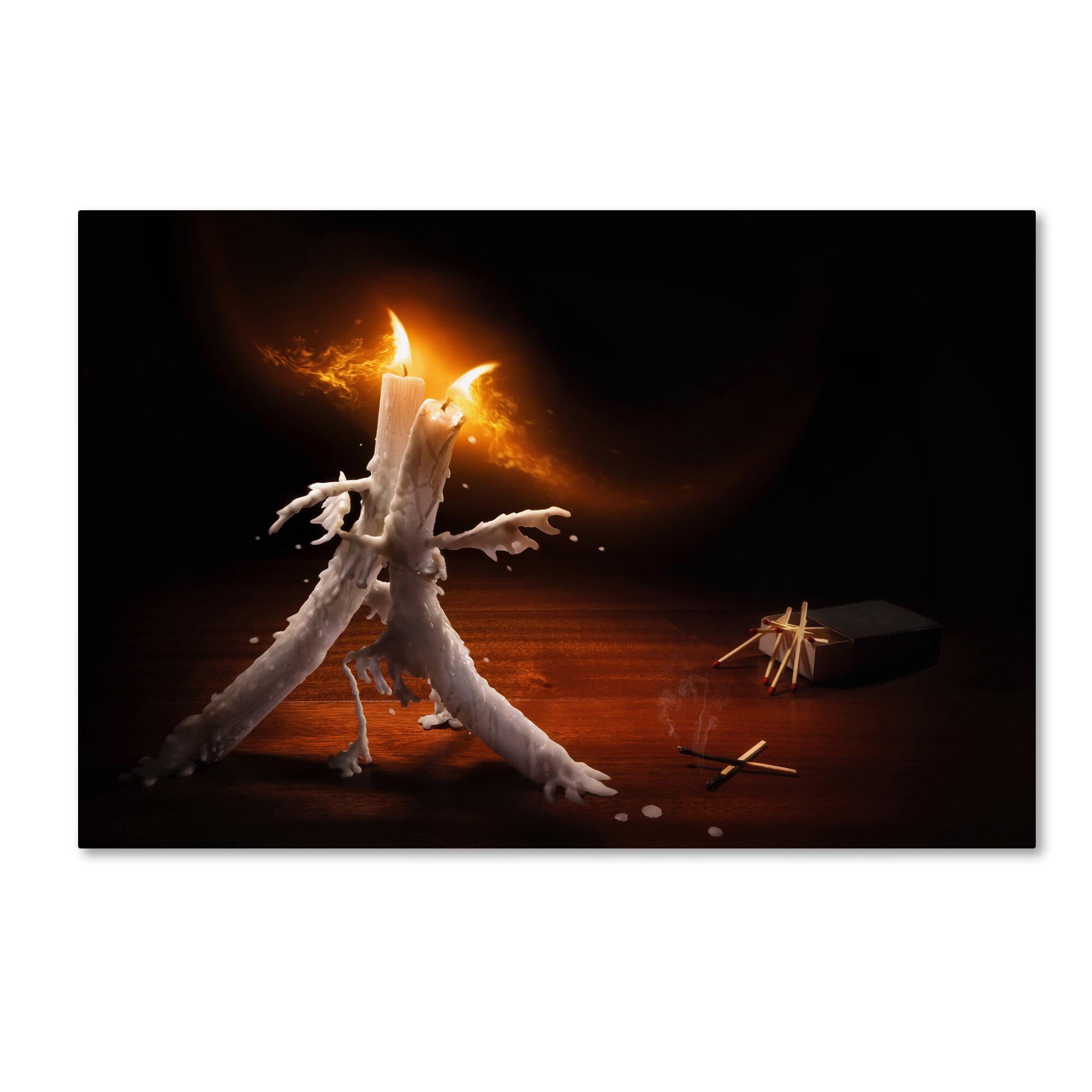Trademark Art Candlelight Tango Graphic Art Print On Wrapped Canvas Wayfair