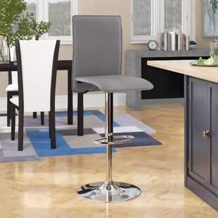Noone Adjustable Height Swivel Bar Stool