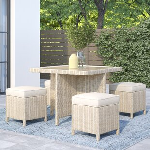 Leopold 4 Seater Dining Set With Cushions By Sol 72 Outdoor