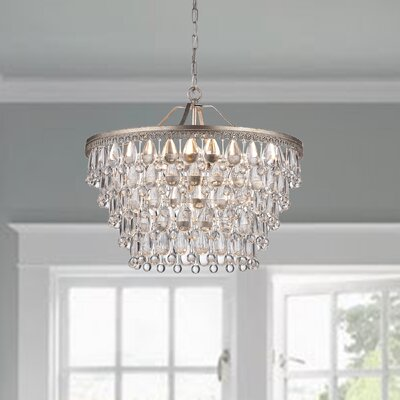 Bramers 6 light crystal chandelier