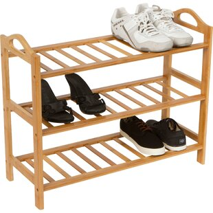 3-Tier 9 Pair Shoe Rack By Trademark Innovations