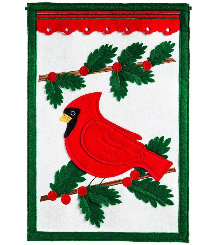 Winter Cardinal Garden Flag