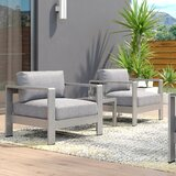 Coline Contemporary 3 Piece Bistro Set with Cushions