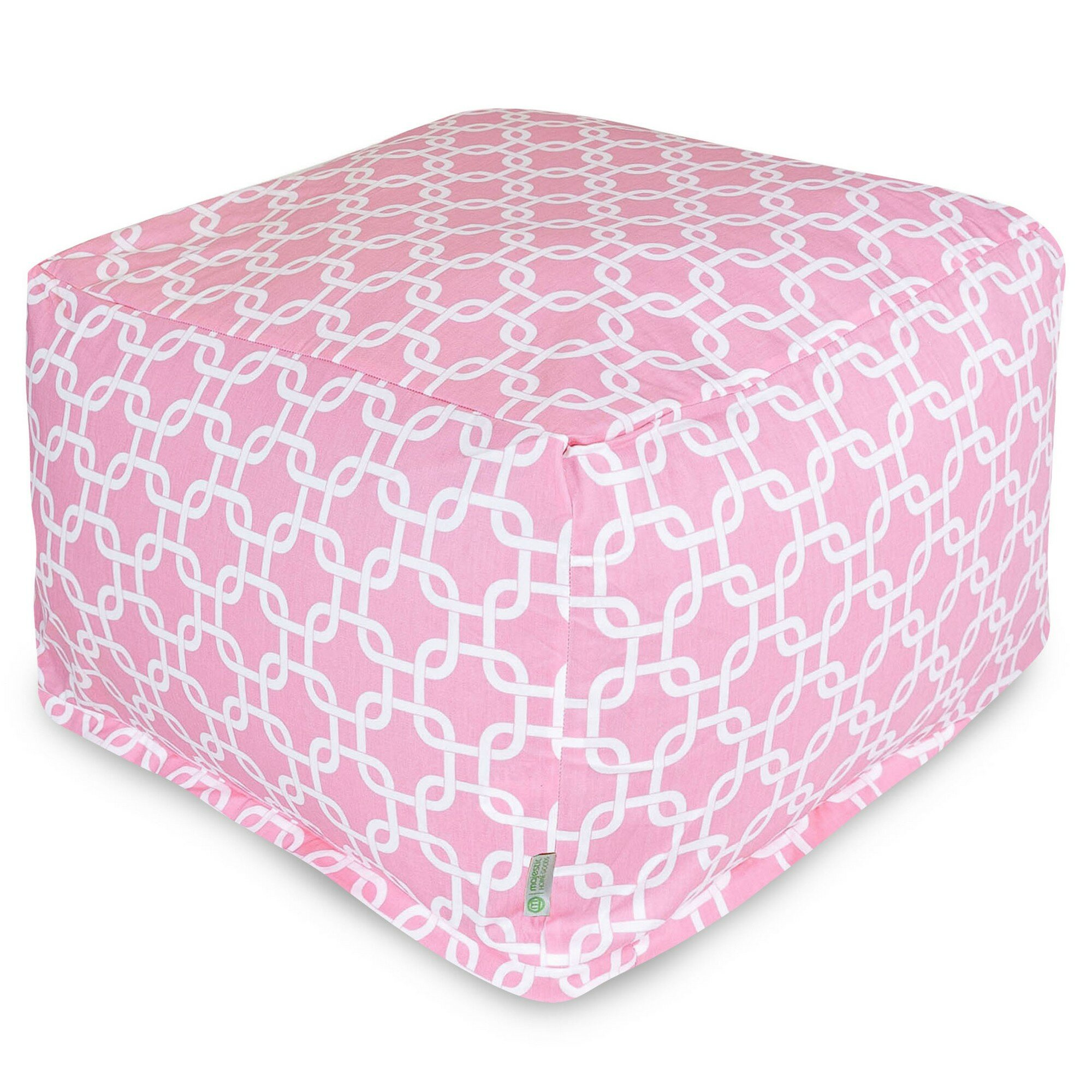 Outdoor /& Indoor Use Pouffe CUBE Bean Bag Footstool PINK