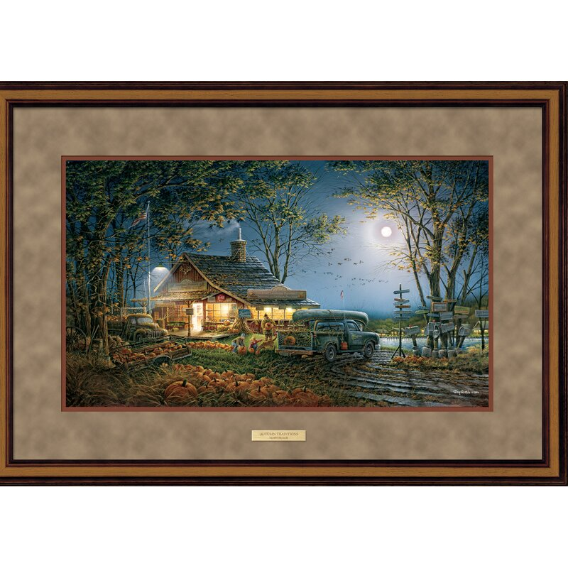 Spooky Fall Autumn Traditions by Terry Redlin Halloween Framed