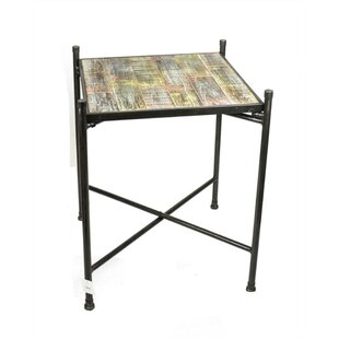 Mcgoldrick In-Trend Wood and Metal End Table by Williston Forge