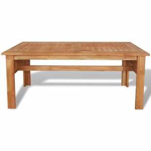 Juba Solid Walnut Wood Coffee Table By World Menagerie