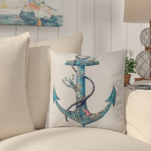 Edwards Anchor Outdoor Throw Pillow