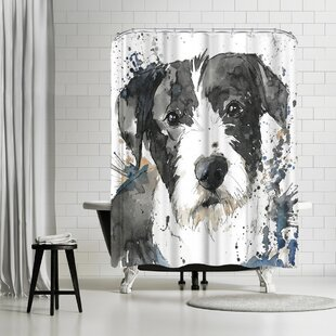 East Urban Home Allison Gray Benson Shower Curtain