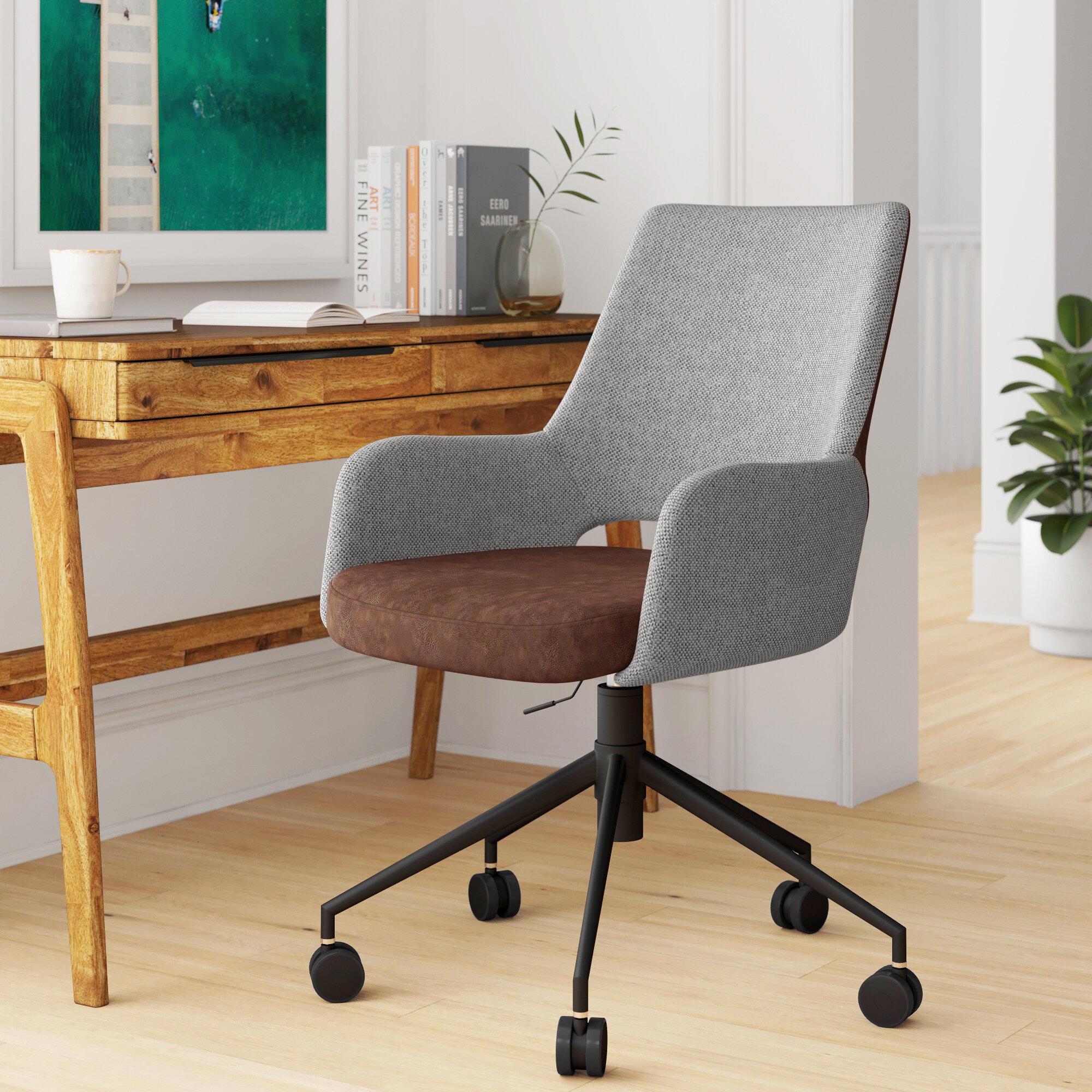 Black Mid Century Modern Office Chairs You Ll Love In 2020 Wayfair