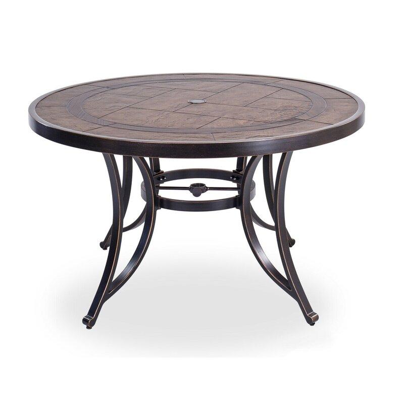 "Fleur De Lis Living 48"" Round Dining Table Outdoor Patio ..."