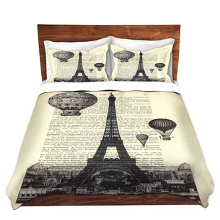 Red Barrel Studio Mattia Madame Memento Eiffel Tower Microfiber Duvet Covers