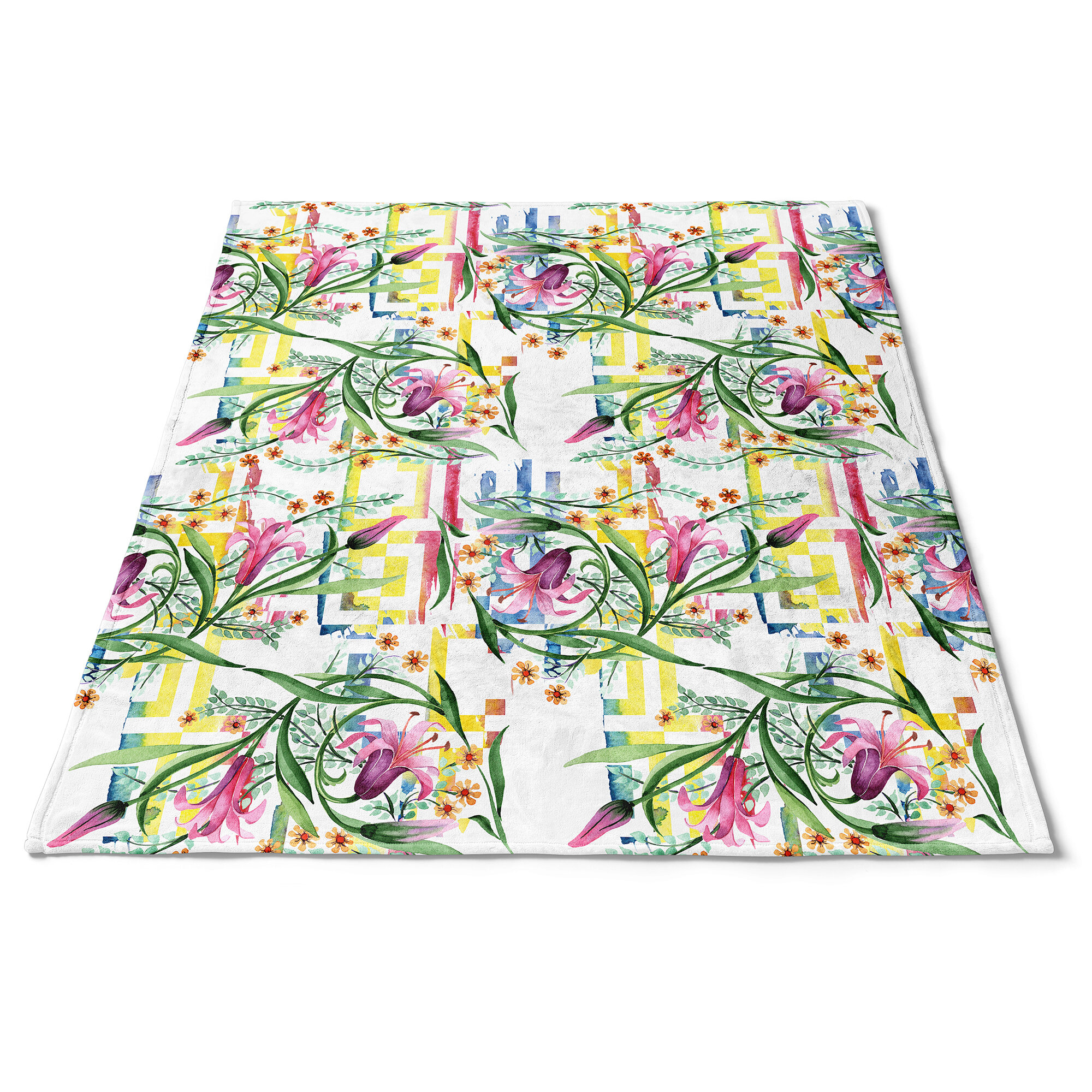 East Urban Home Floral Botanical Retro Xi Blanket Wayfair