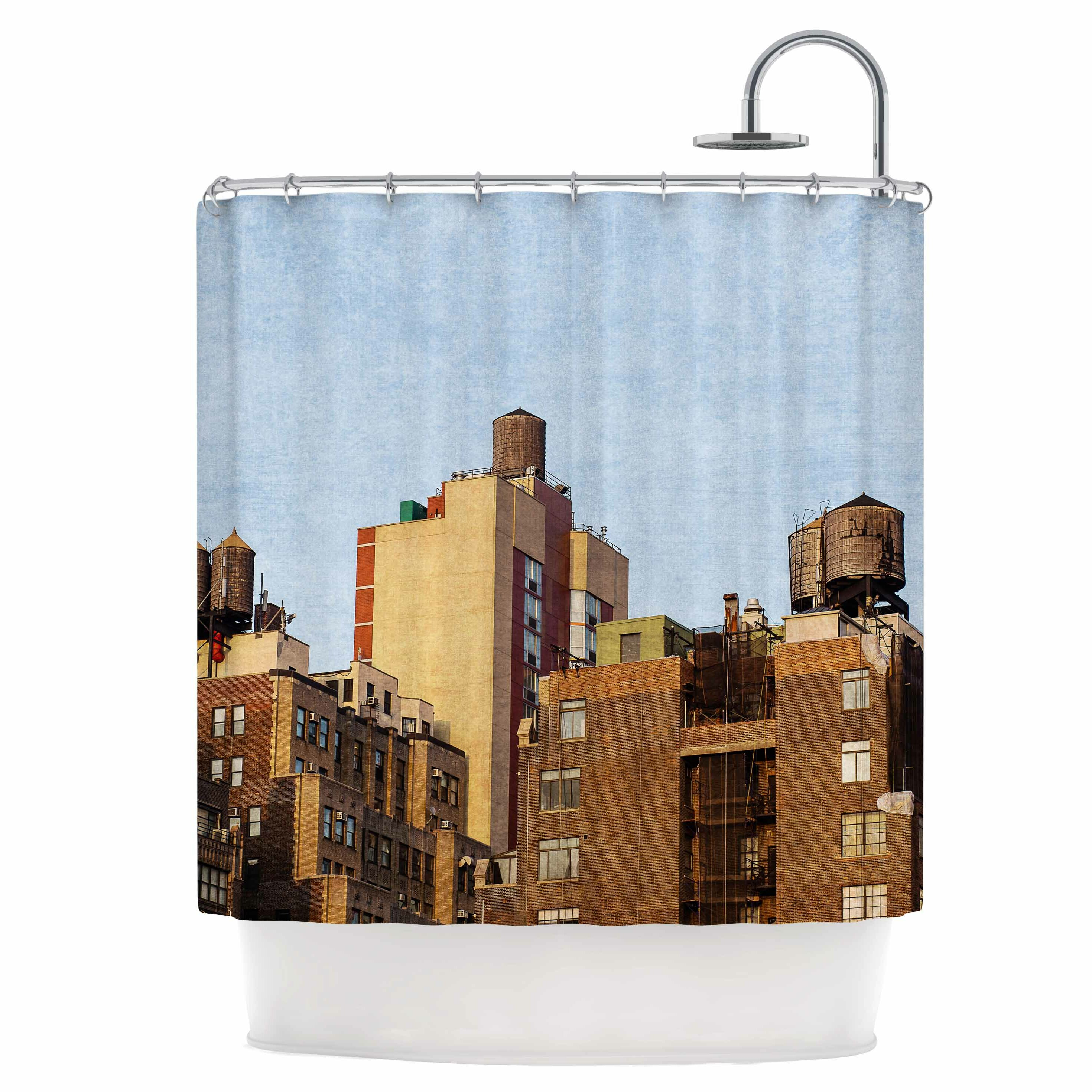 East Urban Home Vintage NYC Shower Curtain