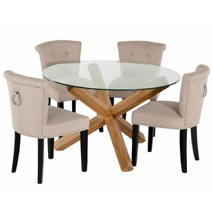 Dunlevy Dining Set With 4 Chairs By Rosalind Wheeler