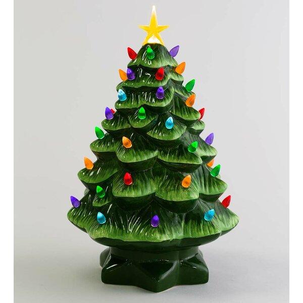 Pre Lit Christmas Tree That Puts Itself Up.Vintage Ceramic Christmas Tree Wayfair