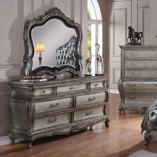 Casanovia 7 Drawer Dresser with Mirror