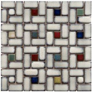 Essentia 12″ x 12″ Porcelain Mosaic Tile in Glazed Cascade