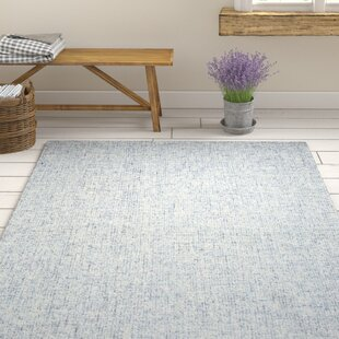 Marsh Hand-Tufted Wool Blue Area Rug by Gracie Oaks