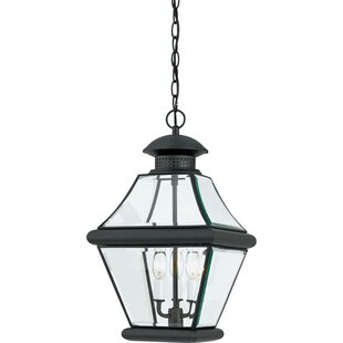 Check Prices Wiedeman 3-Light Outdoor Hanging Lantern By Three Posts