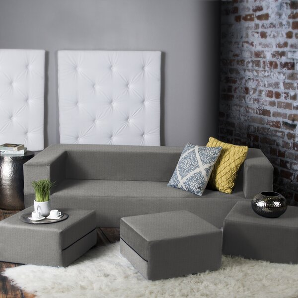 Gentil Zipcode Design Eugene Modular Sleeper Sofa With Ottomans U0026 Reviews | Wayfair