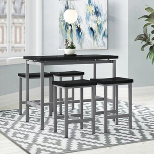 Mysliwiec 5 Piece Counter Height Breakfast Nook Dining Set by Ebern Designs