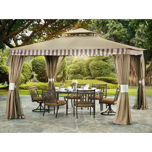 Louisa 10 Ft. W x 12 Ft. D Aluminum Patio Gazebo by Sunjoy