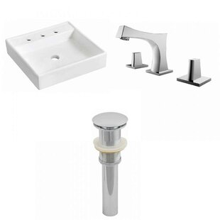 Online Reviews Ceramic 17.5 Wall Mount Bathroom Sink with Faucet By Royal Purple Bath Kitchen