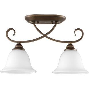Quorum Celesta 2-Light Semi Flush Mount