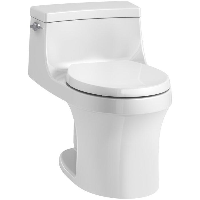 Miraculous San Souci 1 Piece Round Front 1 28 Gpf Toilet With Aquapiston Flushing Technology Dailytribune Chair Design For Home Dailytribuneorg