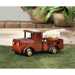 Odele Iron Wheelbarrow Planter (Red)