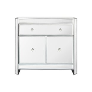 Mercer41 Huddleston 2 Door Mirrored Accent Cabinet