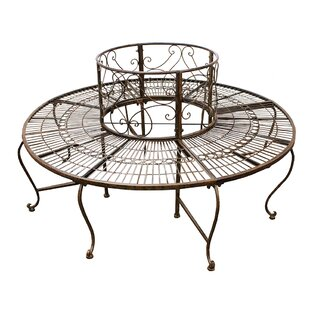 Shelie Surround Metal Tree Bench