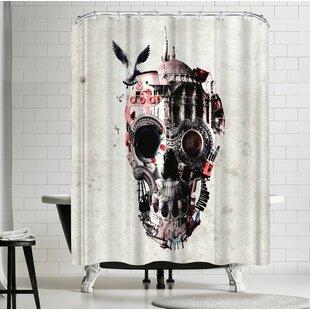 Ali Gulec Istanbul Skull 6000 Pr Single Shower Curtain