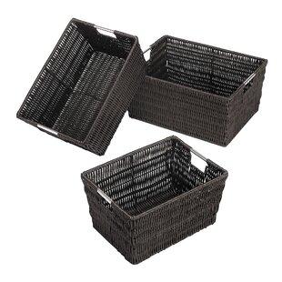 Reviews Storage Basket (Set of 18) By Rebrilliant