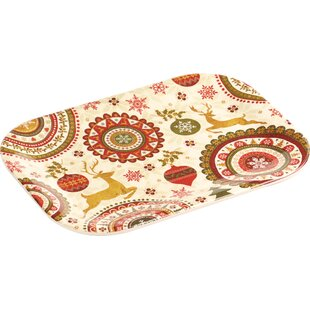 Melamine Snack Christmas Platter (Set of 2)