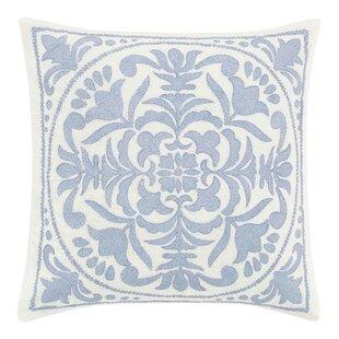 Mila Embroidered Medallion Throw Pillow