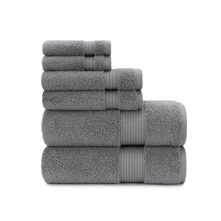 Zero Twist Plush 6 Piece 100% Cotton Towel Set by Briarwood Home 2019 Sale