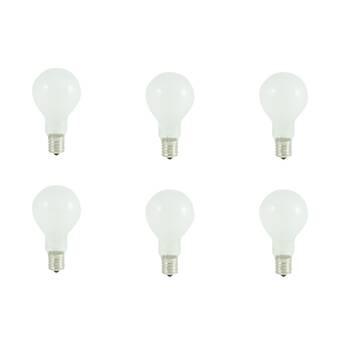GE Classic 6-Pack 40-Watt Dimmable Warm White B10 Incandescent Light Fixture Light Bulb