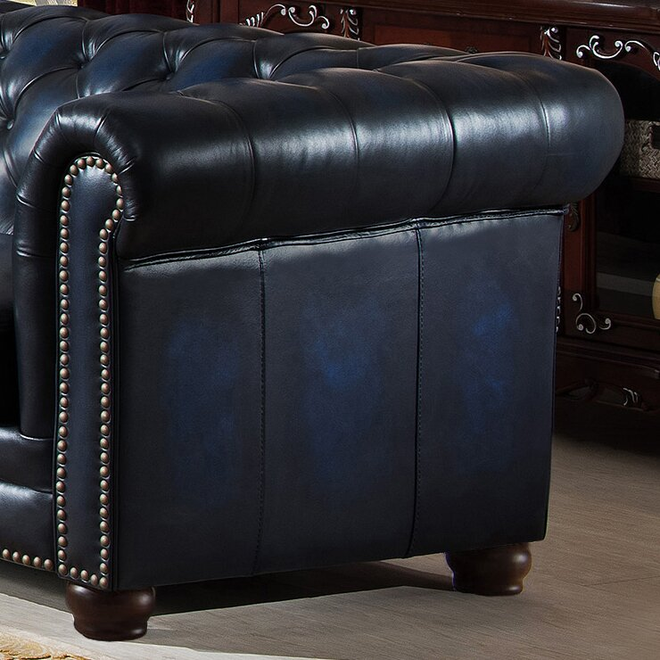Kraig Leather Chesterfield Sofa