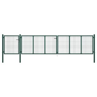 Adalira Garden 16' X 4' (5m X 1.25m) Metal Gate By Sol 72 Outdoor